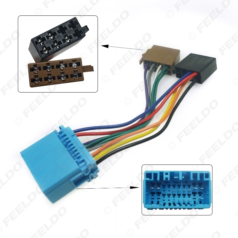 Picture of Car CD Radio ISO Wiring Harness Adapter for Honda Accord Civic CRV Jazz Odyssey Suzuki Swift SX4 Head Units Cable