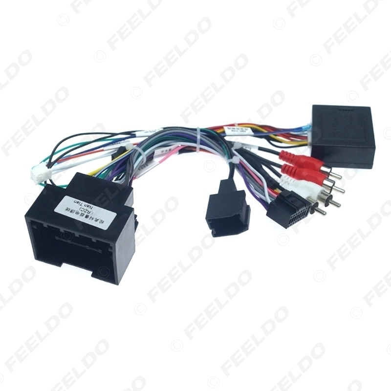 Picture of Car Media Radio Player 16Pin Android Wire Harness With Canbus Box For Chevrolet Trax Cruze Aveo Buick Regal Power Cable
