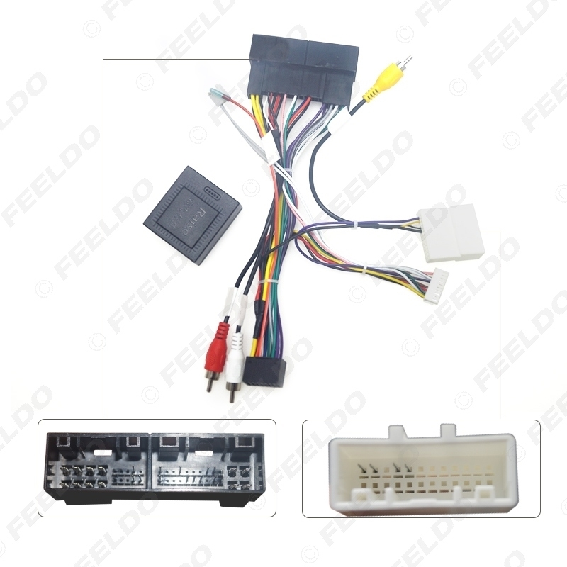 Picture of Car Radio Audio 16PIN Android Power Calbe With Canbus Box For Hyundai Elantra KIA K3 Sorento Wiring Harness Adapter