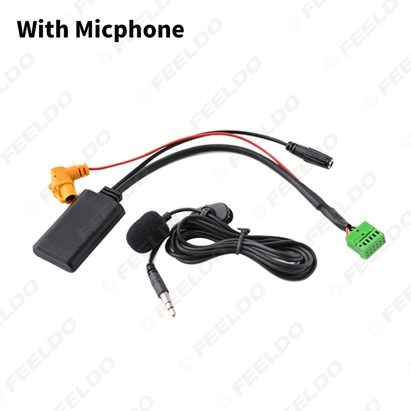 Picture of Car Wireless Bluetooth Module MMI 3G AMI Aux Audio Cable With Micphone For Audi Q5 A6L A4L Q7 A5 S5 AUX Cable