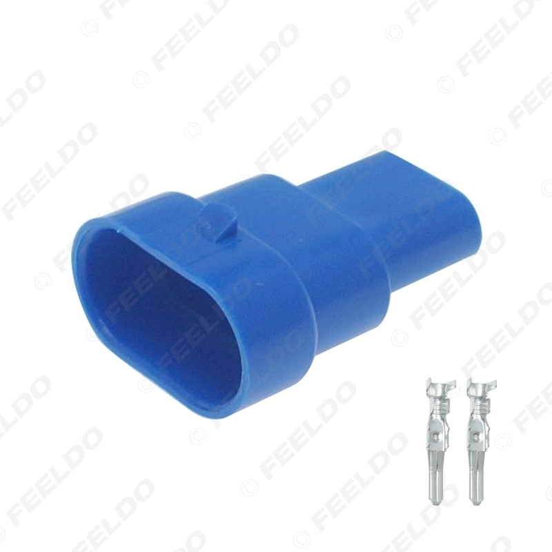 Picture of Car Waterproof HID Headlight Bulb Socket Connector For 9006-11/HB4 Car Light 2Pin Way Plugs Blue