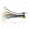 Picture of Car Radio 16PIN Adaptor Wiring Harness With Back Camera Wire For Toyota Audio Power Cable Head Unit Harness