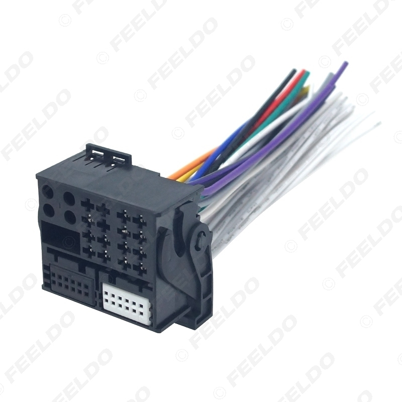 Picture of Car Radio Installation Reverse Male Wire Wiring Harness Plug With 12Pin AUX Wire Plug For Audi/BMW/Volkswagen/Mini/Dodge
