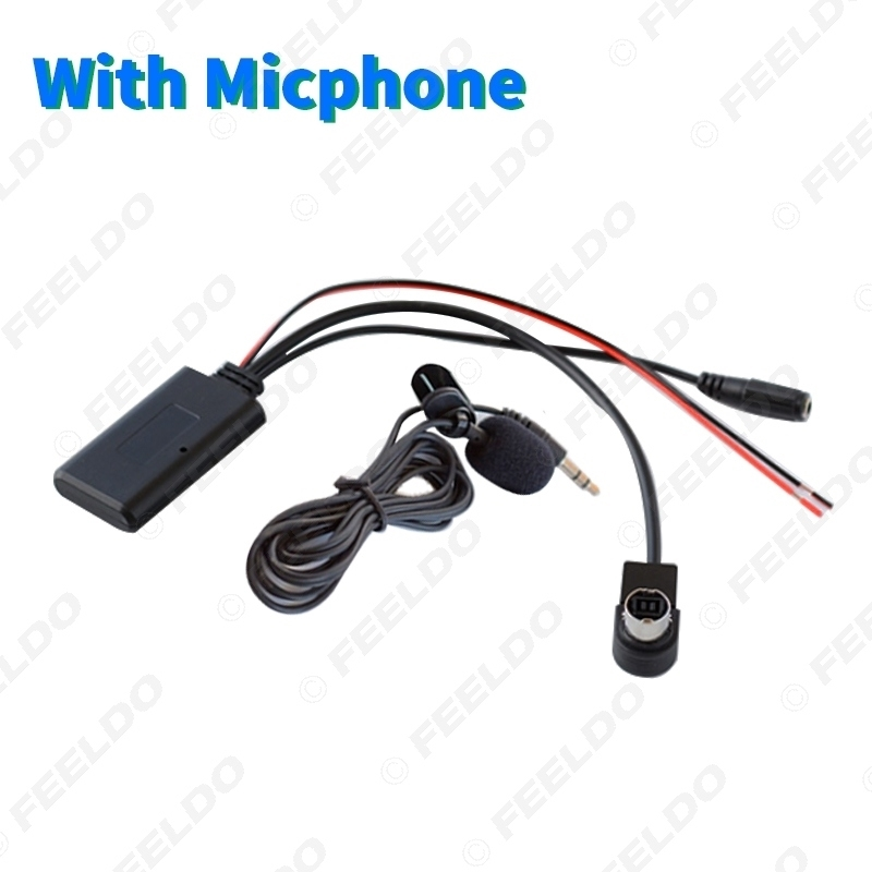 Picture of Car Audio Wireless Bluetooth Module Receiver Music AUX Adapter For Alpine 121B 9857 9886 117 Radio Aux Cable