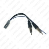 Picture of Car 2PIN Female to ISO Male Double Plugs Radio Antenna Adapter For Honda CRV Civic Accord Radio Wire Cable