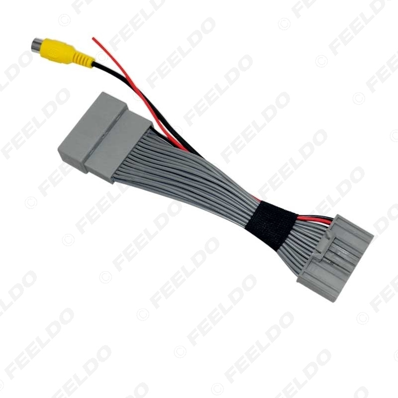 Picture of Car Parking Rear Camera Video Plug Converter Cable For Honda CRV Breeze Parking Reverse Wire Adapter