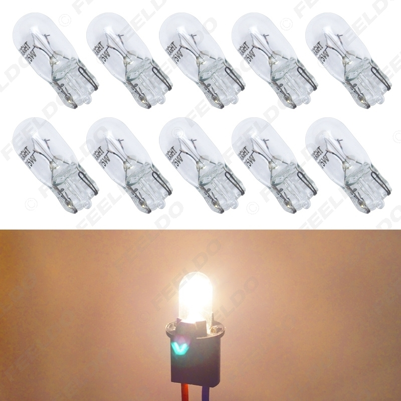 Picture of Warm White Car T10 168 192 Wedge 12V 5W Halogen Bulb External Halogen Lamp Replacement Dashboard Bulb Light