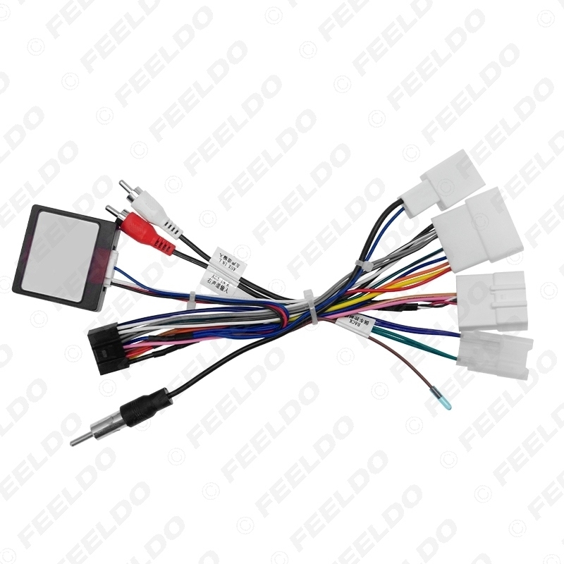 Picture of Car Stereo 16pin Wiring Harness With Canbus Box For Toyota Prado Audio Radio Installation Wire Adapter