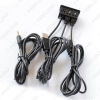 Picture of Car Universal AUX IN Flush Mount Cable Double USB Sockets 3.5mm Male Jack Mounting Modified AUX Cable Adapter