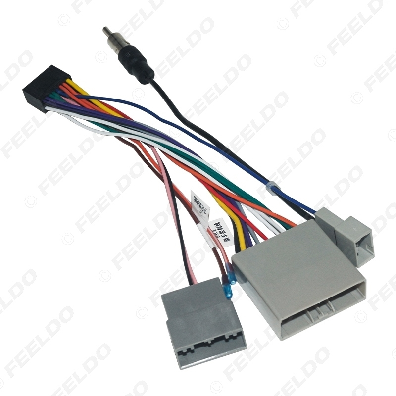 Picture of Car Multimedia 16Pin Wiring Connector with Radio Antenna Adapter for Honda Civic CRV 2006~2009 Power Wire
