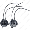 Picture of 2PCS Car Headlight Bulb Base Holder Wire Adapter For Hyundai New Santafe Halogen Lamp Socket Connector Wiring Harness