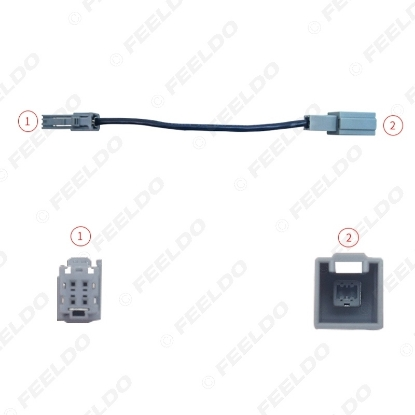 Picture of Car Audio Input Media Data Wire Original Plug Male To Female USB Adapter For Toyota Camry  USB Cable