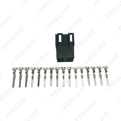 Picture of Car Audio CD player Connector 16pcs Terminal 16 Pins Socket for Volkswagen Peugeot KIA Chery CD/DVD DIY Plug Changer