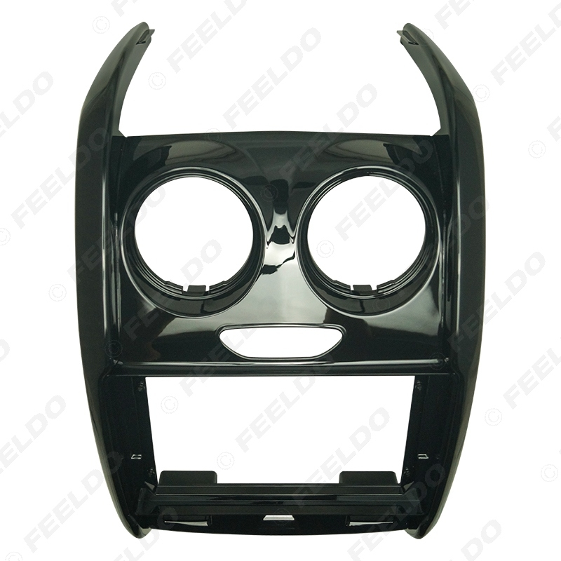 """Picture of Car Audio Fascia Frame Adapter For Renualt Duster 2015+ 9"""" Big Screen 2DIN Dash Fitting Panel Frame Kit"""
