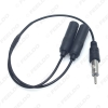 Picture of Auto Antenna FM/AM Antenna Cable Adapter Aluminum Plug In 1 For 2 Extension Car Stereo Audio Cable Radio Antenna