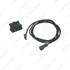 Picture of Car AUX IN MP3 Audio Interface Switch Panel Music Wire for BMW E39 E46 E38 E53 X5 Modified AUX Cable Adapter