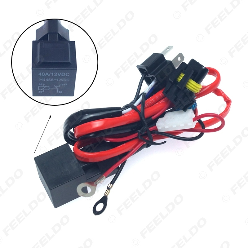 Picture of Motorcycle Kit 12V 35W H4 HID Hi/Lo Xenon Wire Harness Relay HID Wiring Harness Kit